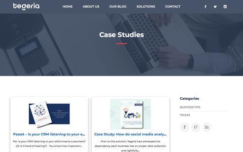 Screenshot of Case Studies Page tegeria.com - Case Studies – Tegeria - captured Aug. 8, 2019