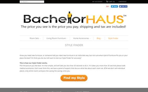 Screenshot of Blog bachelorhaus.com - Style Finder | Bachelor Haus - captured May 31, 2017