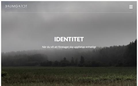 Screenshot of Home Page baumgardt.se - Baumgardt Visual Communication - captured Feb. 7, 2016