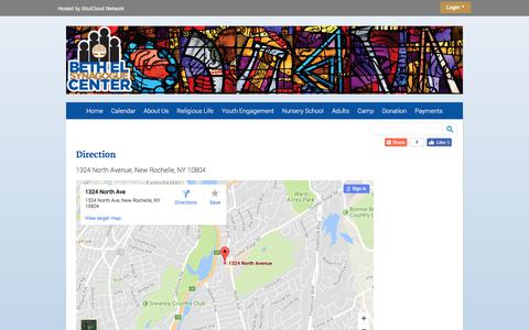 Screenshot of Maps & Directions Page bethelnr.org - Direction - captured Oct. 10, 2017