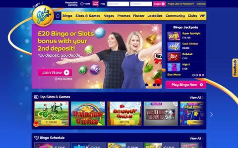 Screenshot of Home Page galabingo.com - Gala Bingo: Play Online Bingo Games | Ł40 UK Welcome Bonus - captured Nov. 19, 2015