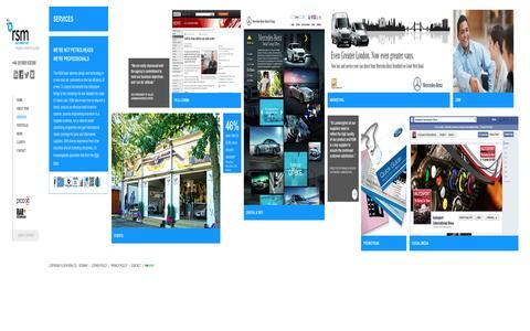 Screenshot of Services Page rsm-auto.com - RSM AUTO | Services | Digital Event & PR Marketing Agency - captured Dec. 1, 2016