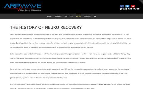 Screenshot of About Page arpwave.com - HISTORY OF NEURO RECOVERY - captured Nov. 19, 2019