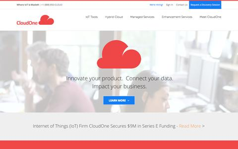 Screenshot of Home Page oncloudone.com - CloudOne - captured April 27, 2016