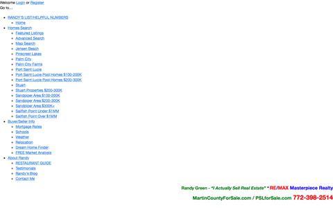 Screenshot of Login Page randygreen.net - User Login   Randy Green-Remax Masterpiece Realty Port Saint Lucie - captured Oct. 26, 2017