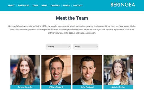 Screenshot of Team Page beringea.com - Team - Beringea - captured Nov. 6, 2018