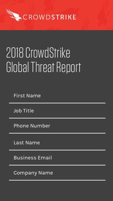 2018 CrowdStrike Global Threat Report