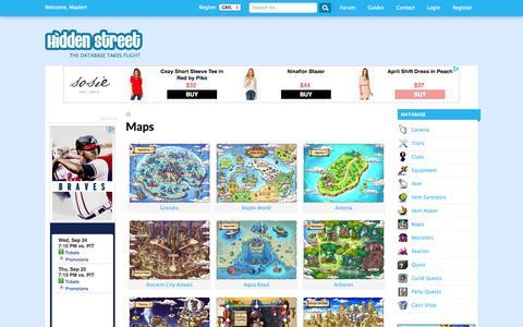Screenshot of Maps & Directions Page hidden-street.net - Maps | Hidden Street - captured Sept. 24, 2014