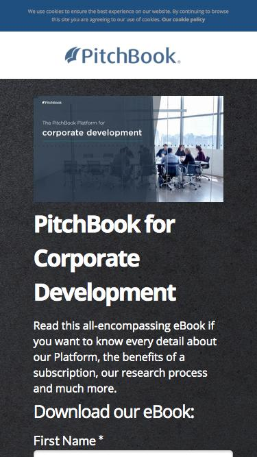 PitchBook for Corporate Development