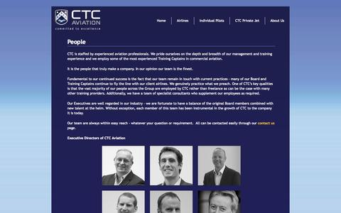 Screenshot of Team Page ctcaviation.com - People - CTC Aviation - captured Oct. 2, 2014