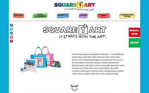 Screenshot of Home Page square1art.com - Square 1 Art | It Starts With the Art! - captured Oct. 19, 2018