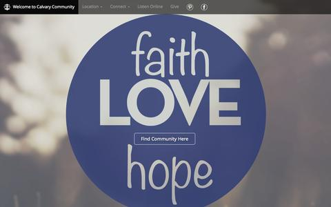 Screenshot of Home Page findcommunity.net - Calvary Community Church in Henrietta, NY - captured Sept. 30, 2015