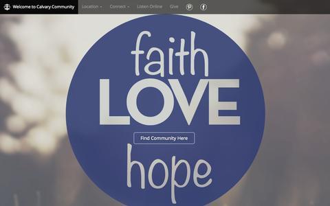 Screenshot of Home Page findcommunity.net - Calvary Community Church in Henrietta, NY - captured Sept. 30, 2015