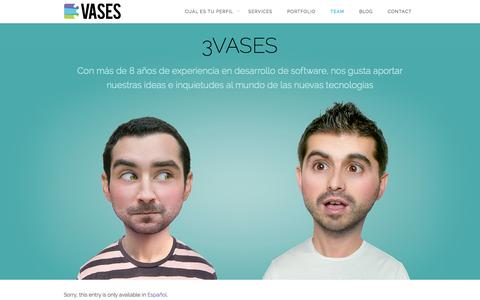 Screenshot of Team Page 3vases.com - 3VASES - Empresa especializada en desarrollo de aplicaciones web - WebApps - captured Oct. 9, 2014