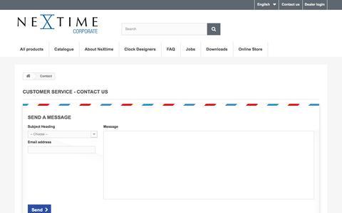 Screenshot of Contact Page nextime.eu - Contact - NeXtime International - captured Oct. 15, 2017