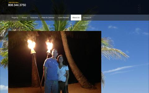 Screenshot of About Page mymauivacationrental.com - About Us | My Maui Vacation Rental - captured Feb. 22, 2016