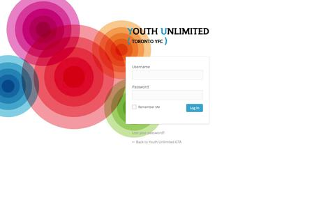 Screenshot of Login Page youthunlimitedgta.ca - Youth Unlimited GTA › Log In - captured Oct. 27, 2014