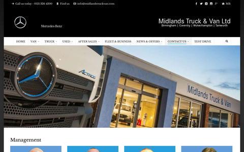 Screenshot of Team Page midlandstruckvan.com - Meet the Team   Midlands Truck & Van Ltd - captured Nov. 28, 2016
