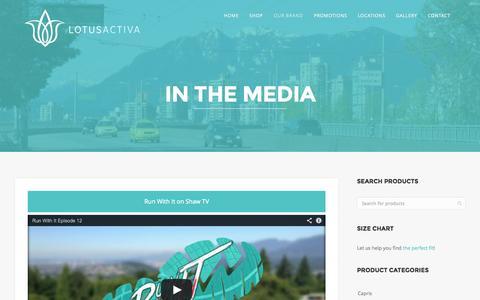 Screenshot of Press Page lotusactiva.com - In the Media | LOTUSACTIVA - captured Oct. 28, 2014
