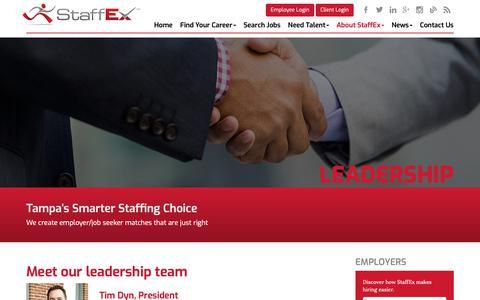 Screenshot of Team Page thestaffex.com - Leadership - StaffEx - captured Nov. 17, 2018