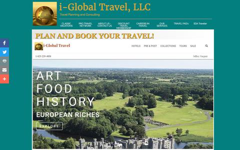 Screenshot of Home Page iglobaltravel.com - Book travel through i-Global Travel / Classic Vacations - captured Oct. 15, 2017