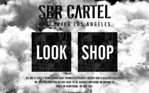 Screenshot of Home Page sbrcartel.com - SBR CARTEL CLOTHING - captured Dec. 16, 2015