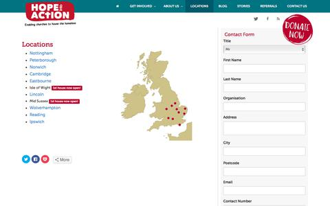 Screenshot of Locations Page hopeintoaction.org.uk - Locations | Hope into Action - captured July 21, 2018