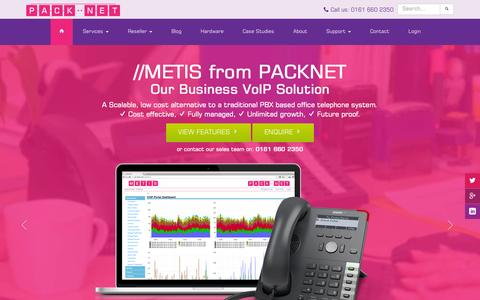 Screenshot of Home Page pack-net.co.uk - VoIP for Business UK - Business VoIP Providers & Business Telephone Systems | PackNet - captured Sept. 30, 2015