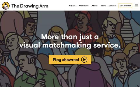 Screenshot of Home Page thedrawingarm.com.au - The Drawing Arm :: Illustration Agency - captured July 12, 2019