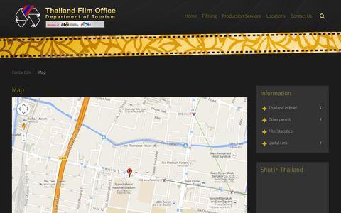 Screenshot of Maps & Directions Page thailandfilmoffice.org - Map - captured Nov. 4, 2014