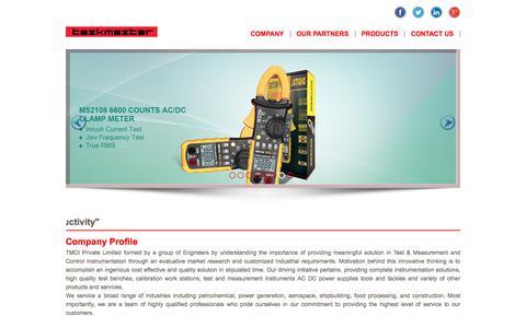 Screenshot of Home Page tazkmazter.com - TMCI - captured June 12, 2017