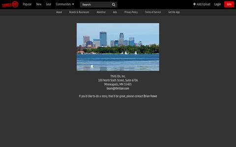 Screenshot of Contact Page thrillon.com - Contact - Thrill On - captured Sept. 17, 2014