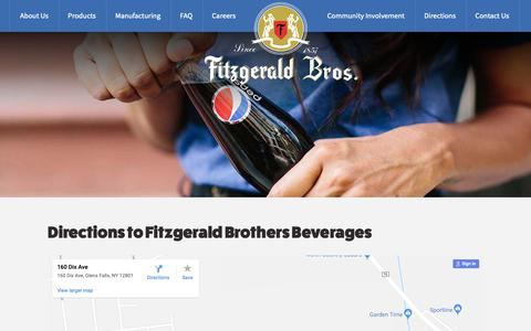 Screenshot of Maps & Directions Page fitzgeraldbros.com - Directions To Fitzgerald Brothers On Dix Avenue In Glens Falls New York - captured Oct. 10, 2018