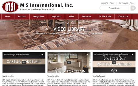 Screenshot of msistone.com - Flooring Videos | MSI Video Library - captured Sept. 11, 2016