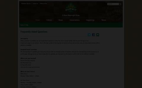 Screenshot of FAQ Page summitbrewing.com - Summit Brewing Company | Frequently Asked Questions - captured Oct. 6, 2014