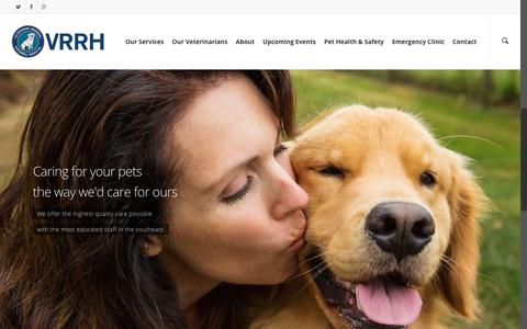 Screenshot of Home Page vrrh.org - Veterinary Regional Referral Hosptial - captured Feb. 27, 2016