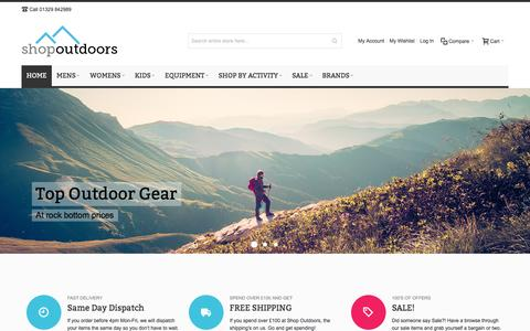 Screenshot of Home Page shop-outdoors.co.uk - Shop Outdoors | Outdoor Products - captured Dec. 11, 2016