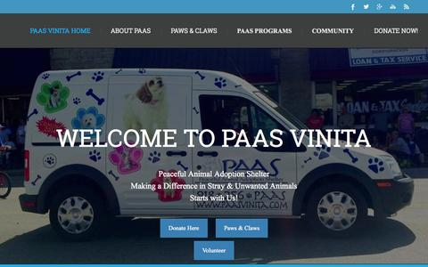 Screenshot of Home Page paasvinita.com - PAAS Vinita Home - captured July 16, 2015