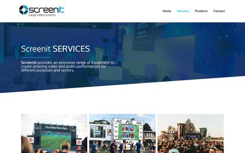 Screenshot of Services Page screenit.eu - Services | Screen-It - captured Oct. 2, 2018