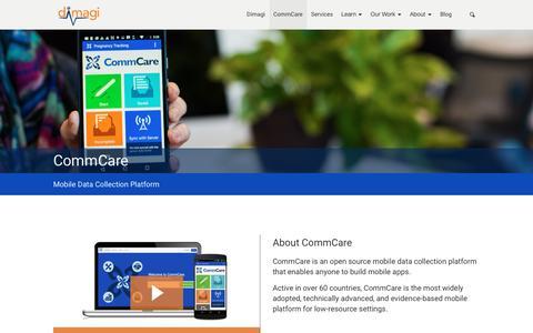 Screenshot of Products Page dimagi.com - CommCare | Dimagi - captured Feb. 21, 2017
