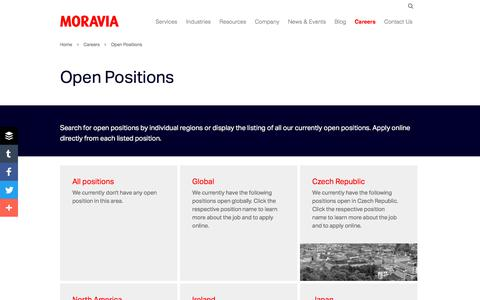Open Positions - Moravia