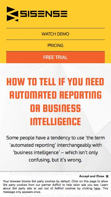 Automated Reporting or Business Intelligence Tool
