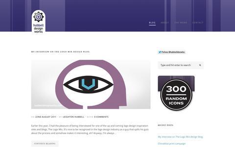 Screenshot of Blog hubbelldesignworks.com - Blog   Hubbell Design Works   Design with teeth - captured Sept. 30, 2014