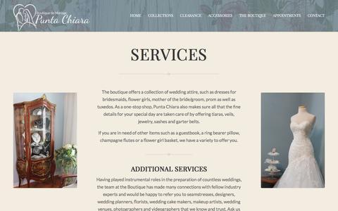 Screenshot of Services Page mariagepc.com - SERVICES - mariagepc - captured Feb. 8, 2016