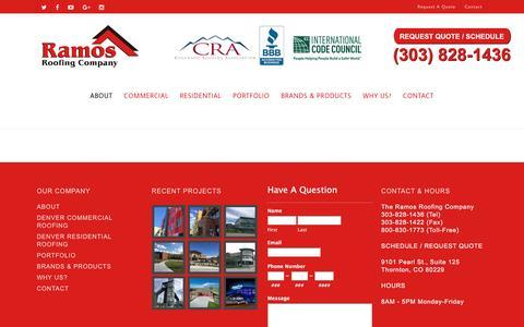 Screenshot of Press Page ramosroofing.com - Roofer Denver CO | Colorado Roofing | Boulder Roofers | Hail | Commercial | Contractor - captured Dec. 2, 2016