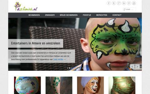 Screenshot of Home Page Menu Page ikschmink.nl - IkSchmink.nl -De website voor schminken - IkSchmink.nl - captured Oct. 6, 2014