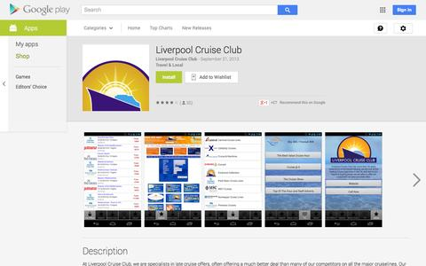 Screenshot of Android App Page google.com - Liverpool Cruise Club - Android Apps on Google Play - captured Oct. 22, 2014