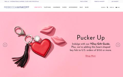 Screenshot of Home Page rebeccaminkoff.com - Rebecca Minkoff Online Store: Handbags, Clothing, Shoes, & Accessories  | Rebecca Minkoff - captured Jan. 22, 2016