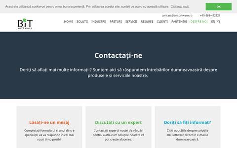 Contact BITSoftware - Solutii software de business ERP CRM WMS BI