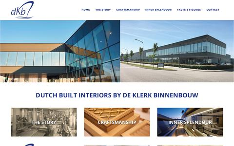 Screenshot of Contact Page dkb.nl - Contact - De Klerk Binnenbouw - captured Oct. 12, 2017
